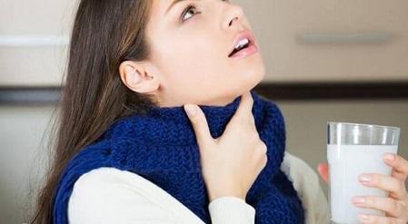 Температура боль горле при глотании без температуры